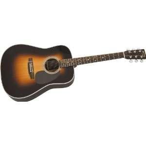 Martin D 28 Dreadnought Acoustic Guitar Sunburst Musical Instruments