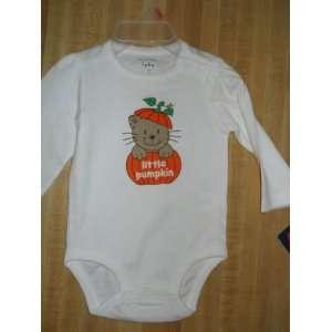 Halloween Little Pumpkin Baby Tee Size 0/3 Mo Creeper Baby