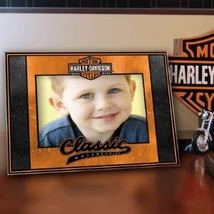 4 x 6 Harley Davidson Classic Glass Mosaic Picture Frame