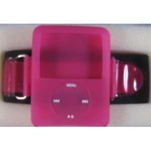 Apple iPod Nano (3rd Generation) Hot Pink Rubber Armband Case