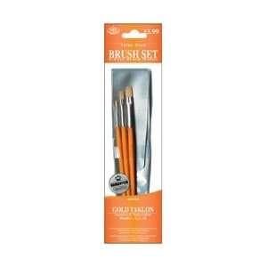 Royal Brush Brush Set Value Pack Gold Taklon 3/Pkg Shader 2610 9110; 3