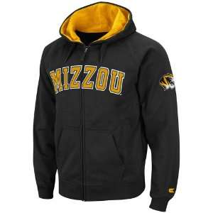 Missouri Tigers Black Automatic Full Zip Hoodie Sweatshirt