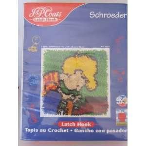 J & P Coats Latch Hook Kit   Schroeder   Peanuts 50 Year