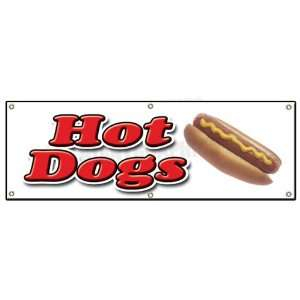 72 HOT DOG 1 Outdoor Vinyl Banner hot dogs cart sign