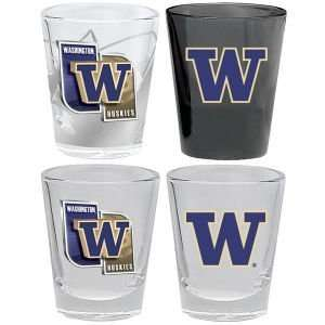 Washington Huskies 4 Piece Collector Glass Set
