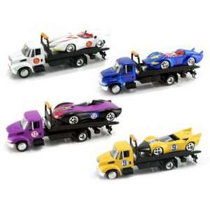 Racer Cars w/ Matching International Tow Truck 1/55 Toys & Games