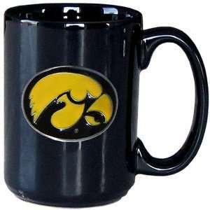 Iowa Hawkeyes 12oz Black Coffee Mug