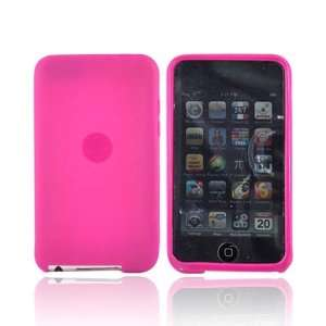 For Apple iPod Touch 2 & 3 Silicone Case   HOT PINK Electronics