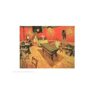 Night Cafe with Pool Table    Print
