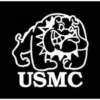 USMC (MARINE CORPS) BULLDOG Vinyl Car Sticker / Decal (Service,Veteran