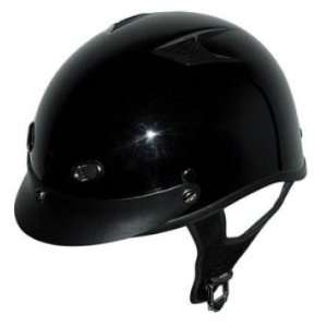 DOT GLOSS BLACK MOTORCYCLE HALF HELMET BEANIE HELMETS Automotive