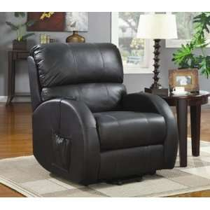 600416 Power Lift Recliner in Black Leather by Coaster