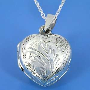 30 Grams 925 Sterling Silver Heart Lockets Arts, Crafts & Sewing