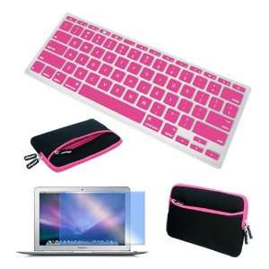 + Pink Silicone Keyboard Skin Cover for Apple Macbook 13.3 Laptop