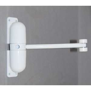 White Mini Door Closer BX Home Improvement