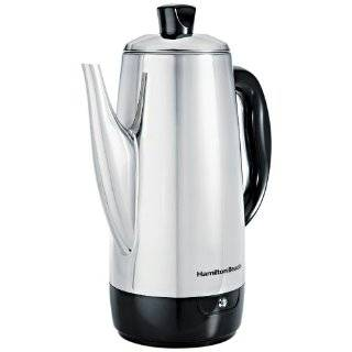 Hamilton Beach 40616 Stainless Steel 12 Cup Electric Percolator