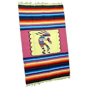 Kokopelli Indian Mexican Blanket throw rug tapestry Home