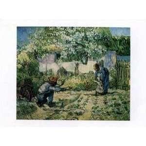First Steps (after Millet), c.1890   Poster by Vincent Van Gogh