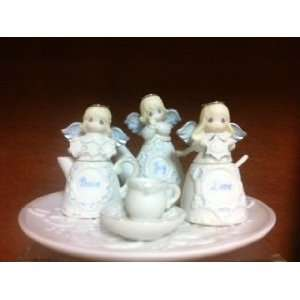 Precious Moments Mini Snow Angel Tea Set  Home & Kitchen