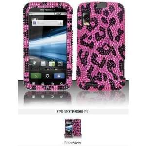 CRYSTAL PINK LEOPARD SNAPON, CASE, COVER Cell Phones & Accessories