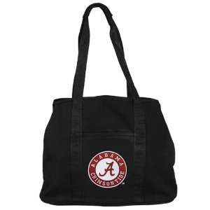 NCAA Alabama Crimson Tide Ladies Black Domestic Tote Bag