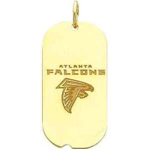 14K Gold NFL Atlanta Falcons Logo Dog Tag Charm Sports