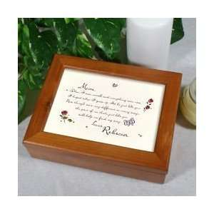 Personalized Mothers Day Gift Keepsake Jewelry Box