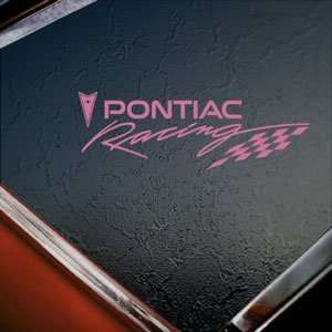 Pontiac Racing Pink Decal Car Truck Bumper Window Pink