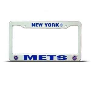 New York Mets Plastic Mlb license plate frame Tag Holder Automotive