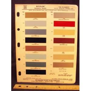 1965 PLYMOUTH Valiant, Barracuda, Belvedere, & Fury Paint Colors Chip