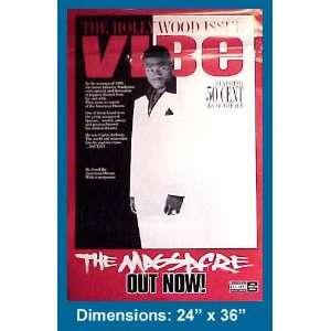 50 CENT THE MASSACRE VIBE MAGAZINE COVER RARE POSTER
