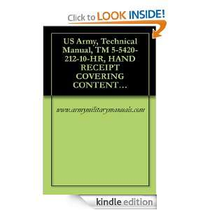 US Army, Technical Manual, TM 5 5420 212 10 HR, HAND RECEIPT COVERING