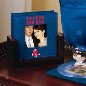 Boston Red Sox Art Glass Coaster Set