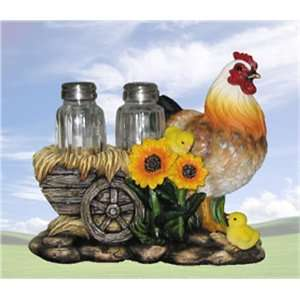 Poultry Seasoning Hen with Cart Salt & Pepper Shaker Set