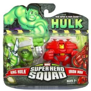 Hulk Movie Super Hero Squad 2 Pack King Hulk & [Hulk Buster] Iron Man