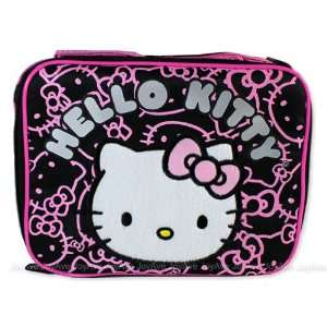 Sanrio Hello Kitty Black Insulated Lunch Bag with Pink