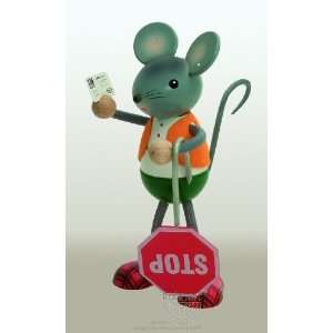 Police Mouse with Tickets and Stop Sign Arts, Crafts