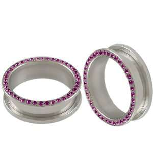 316L Surgical Stainless Steel screw fit Flesh Tunnels Ear Large Gauge