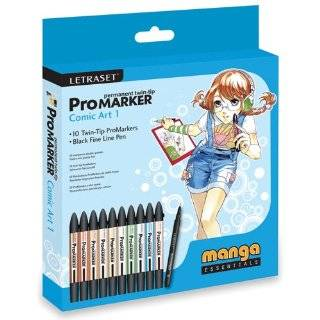 Marker Rubber Stamping Set 2, Twin Tip, 10 Pack Arts, Crafts & Sewing