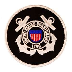 US Coast Guard 1790 Anchor Black and White 3 patch Arts