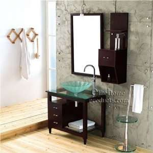 G204 Modern Design Solid Oak Vanity Set: Home & Kitchen
