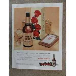 Vintage 50s full page print ad.(special gift bottle)Original vintage