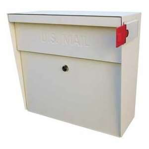 Metro Wall Mount Mail Boss Locking Mailbox White: Home