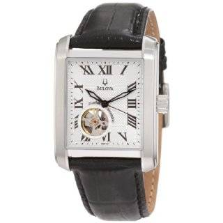 96A113 Automatic Mechanical Black Dial Strap Watch Bulova Watches