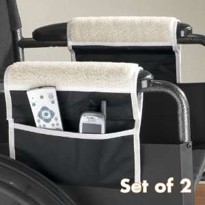 Wheelchair Arm Rest Pads w/Pouch Set of 2 Health