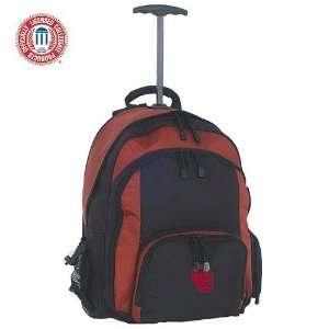 Oklahoma Sooners Crimson & Black Wheeled Backpack