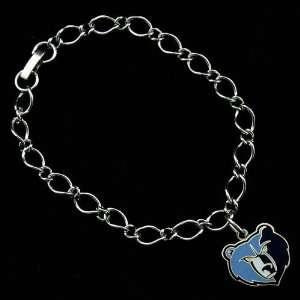 NBA Memphis Grizzlies Ladies Silver Tone Charm Bracelet