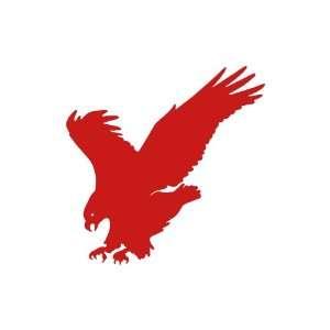 Eagle medium 7 Tall RED vinyl window decal sticker