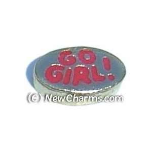 Go Girl Floating Locket Charm Jewelry
