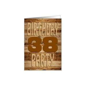 carved wooden 38th birthday party invitation Card  Toys & Games